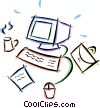 Vector Clipart graphic  of a home office