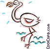 Vector Clipart graphic  of a pink flamingo