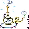 Vector Clip Art image  of a opium pipes