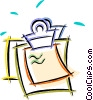 Vector Clipart illustration  of a clipboard with paper