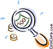money under the magnifying glass Vector Clipart graphic