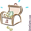 pirates treasure chest Vector Clipart picture