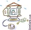 Vector Clipart graphic  of a internet banking