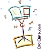music stand Vector Clip Art graphic