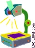 Vector Clip Art picture  of a overhead projector