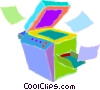 photocopy machines Vector Clipart illustration