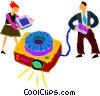 man and women giving a presentation Vector Clip Art picture