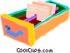 filing cabinet drawer Vector Clip Art image