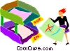 Vector Clip Art graphic  of a in out box