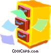 Vector Clipart graphic  of a filing cabinet