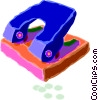 Vector Clipart illustration  of a hole punch