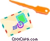 Vector Clipart image  of a letter and letter opener