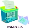 paper shredder Vector Clipart graphic