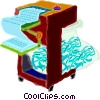 Vector Clip Art image  of a paper shredder