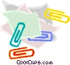 paper and paper clips Vector Clipart illustration