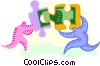 putting the financial puzzle together Vector Clip Art image