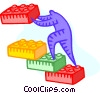 Vector Clip Art picture  of a building blocks