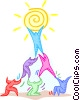 team work Vector Clipart picture