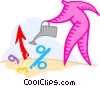Vector Clip Art graphic  of a investments