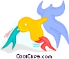 wind up toy Vector Clipart graphic