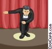 Vector Clip Art image  of an Actor taking a bow