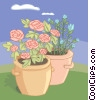 Vector Clipart picture  of a vase of flowers