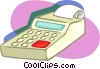 adding machine Vector Clipart illustration