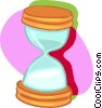 Vector Clip Art graphic  of a hour glass
