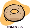 Vector Clip Art picture  of a donut