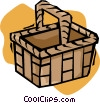 Vector Clip Art image  of a picnic basket