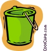 Vector Clipart picture  of a pail