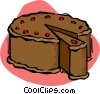 chocolate cake Vector Clipart graphic