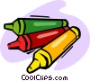 crayons Vector Clipart illustration