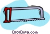 Vector Clip Art picture  of a hacksaw