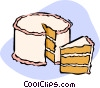 Vector Clipart illustration  of a cake