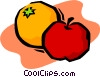 Vector Clip Art image  of an apples and oranges