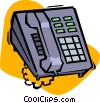 Vector Clip Art graphic  of a office telephone