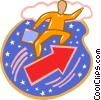 Vector Clipart graphic  of a man shooting for success