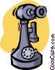 Vector Clip Art image  of a old telephone