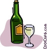 Vector Clipart graphic  of a bottle of wine