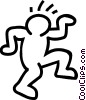 Vector Clip Art graphic  of a dancing stick figure