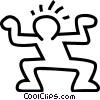 dancing stick figure Vector Clipart image
