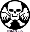 Vector Clipart graphic  of a skull and bones