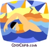 Vector Clipart graphic  of a swimmer