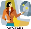 Vector Clipart illustration  of a businesswoman