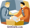 businessmen shaking hands Vector Clipart image