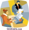 Vector Clipart picture  of a secretaries
