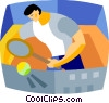Tennis player Vector Clipart image