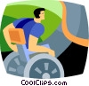 Vector Clipart picture  of a wheelchair athlete