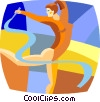 gymnast Vector Clipart picture
